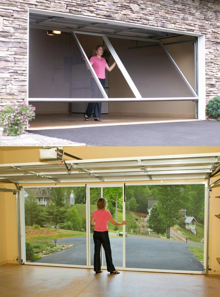 1000 ideas about garage door screens on pinterest for Retractable double garage door screen