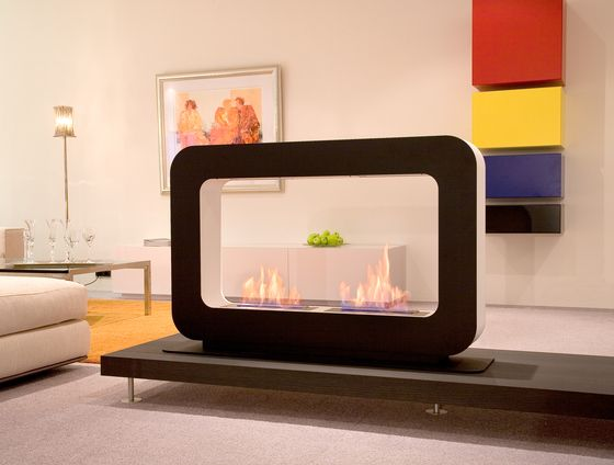 Bring some #curves in a room with the beautiful #Safretti fireplace