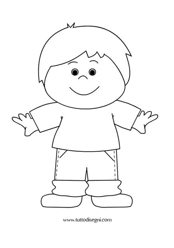 Bambino felice disegno da colorare tutto disegni for Disegno pagliaccio da colorare