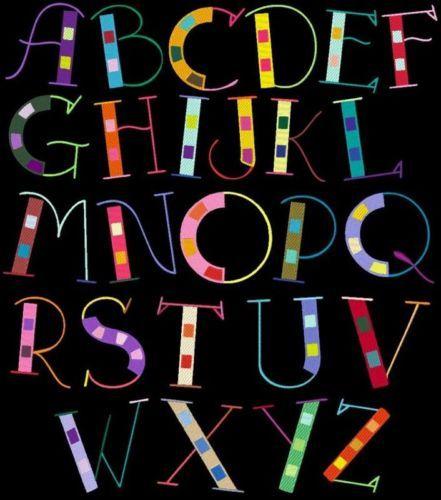 Hippie Chex 78 Designs Machine Embroidery Font Pack Azeb | eBay