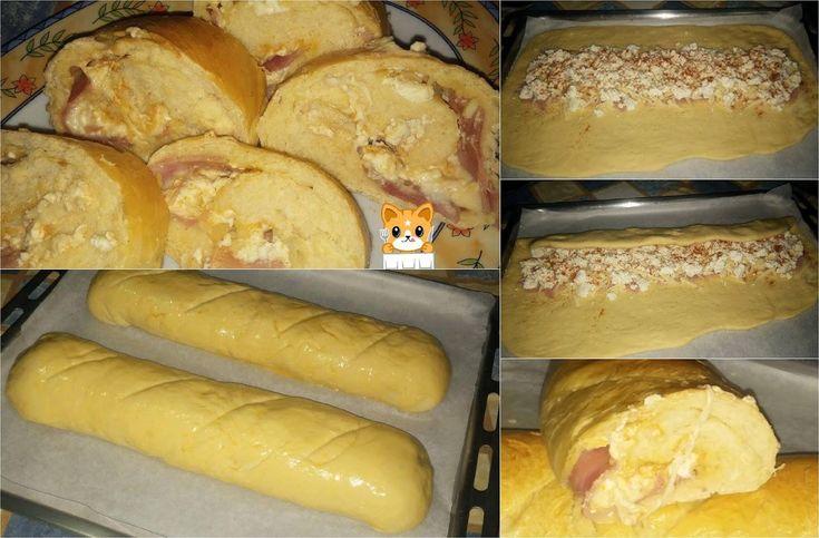 Γεμιστές φρατζόλες με ζαμπόν τυρί & ότι άλλο  σας αρέσει !!!