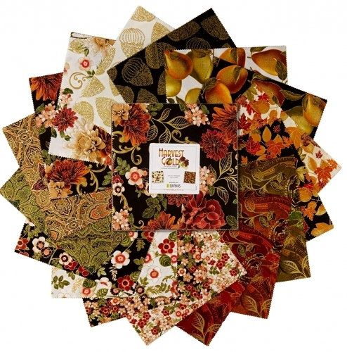 Harvest Gold Layer Cake Benartex Fabrics Hgl210pk 42 10 X 10 Squares Fall Autumn Floral Layer Cake Fall Colors Layer Cake Layer Cake Fabric Fabric Squares Gold Layers