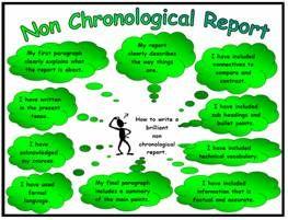 Non-Chronological Report Success Criteria Poster Mat