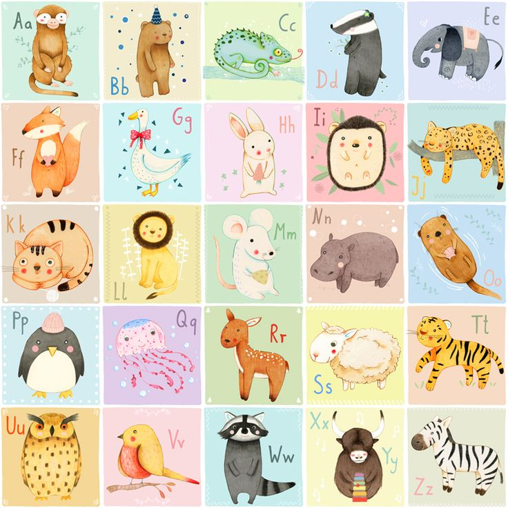 German Animal Alphabet by Judith Loske. Abailable as a poster at Red Bubble