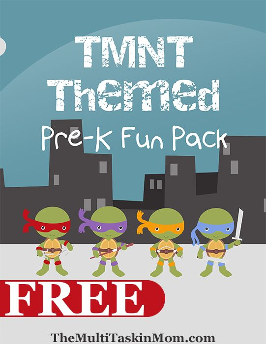 The Multitaskin' Mom has a FREE Teenage Mutant Ninja Turtles PreK Pack. This fun themed pack is a fun way to learn!  Click here for more free p