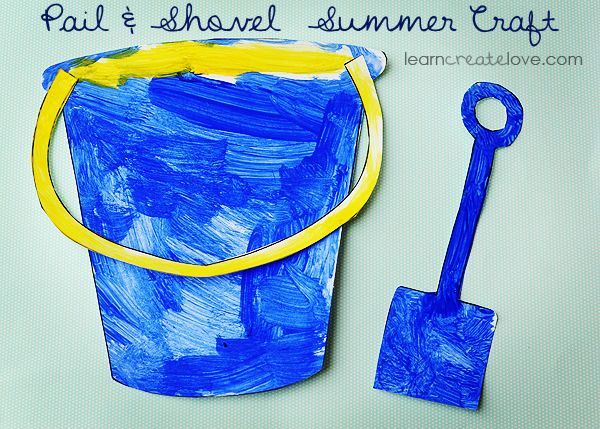 Printable Pail & Shovel Craft ~ great summer craft!