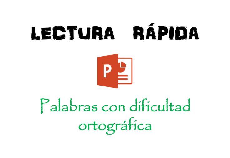 Ejercicios de lectura rápida y palabras con dificultad ortográfica ~ Descarga Recursos Didácticos para todos los grados