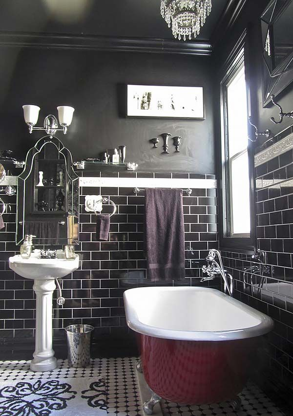 Art Exhibition  Absolutely stunning dark and moody bathrooms
