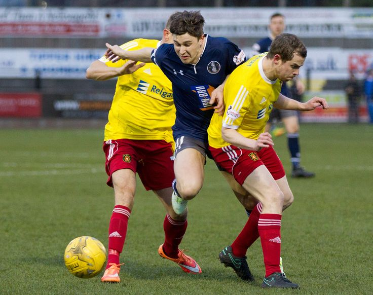 Queen's Park's Sean Burns in action during the Ladbrokes League One game between Albion Rovers and Queen's Park.