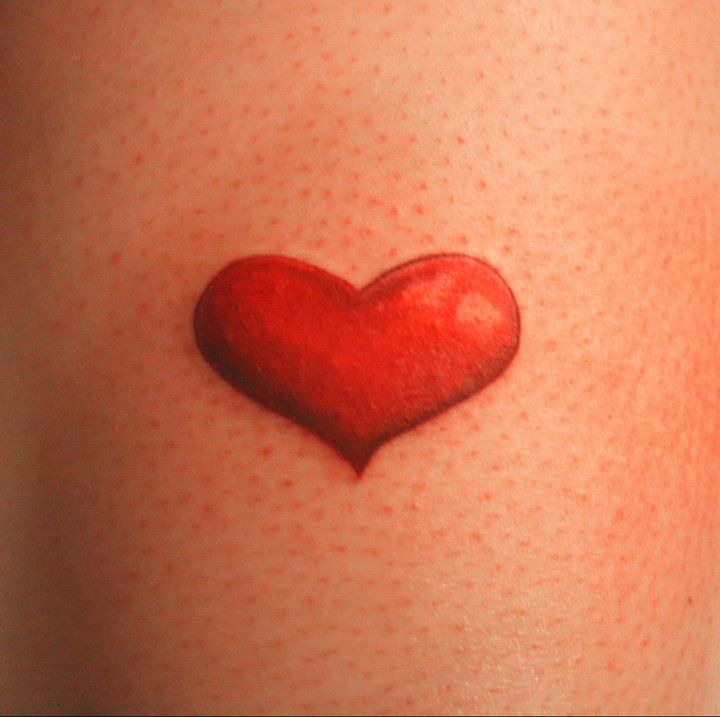 Simple Red Heart Tattoo - Interior Home Design