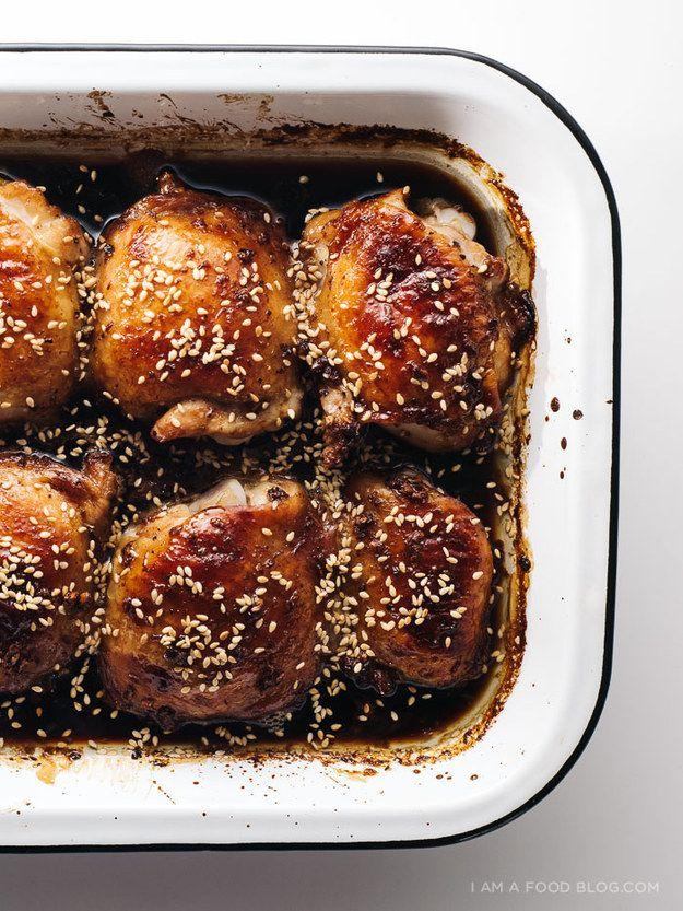 Easy Oven-Baked Sesame Chicken Thighs