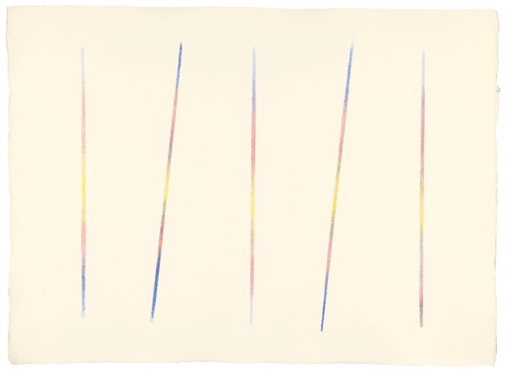 Carlo Cego, 1982, acquerello su carta, 56,5 x 77 cm