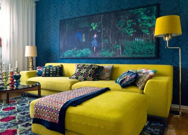 89 best petrol blue mustard yellow interiors images on for Mustard living room ideas