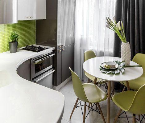 Проект двухкомнатной квартиры Greenmania - проектирование жилого и общественного пространства