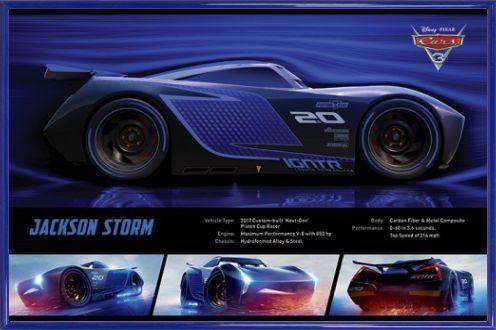 Cars Poster und Kunststoff-Rahmen - 3, Jackson Storm Stats (91 x 61cm) #Cars #Poster #Kunststoff #Rahmen #Jackson #Storm #Stats