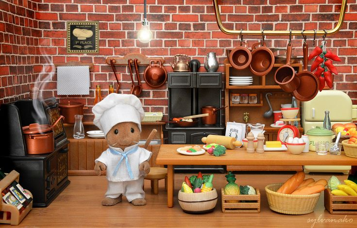 136 best images about calico critters on pinterest toys - Sylvanian families cuisine ...