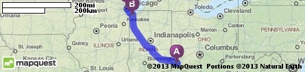 Driving Directions from Norwood, Ohio to Renaissance Blackstone Chicago Hotel in Chicago, Illinois 60605 | MapQuest