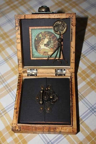 Steampunk Debutante Altered box with a mini album inside by Catherine Siwczak #graphic45 #steampunk