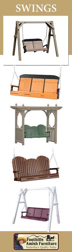 Www.foothillsamishfurniture.com   Swing Sets    At Foothills Amish Furniture ,
