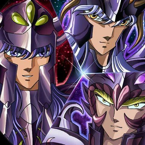 Os três juízes do inferno.  Kagaho, lune e minos. || Aiacos - Radamanthys - Minos