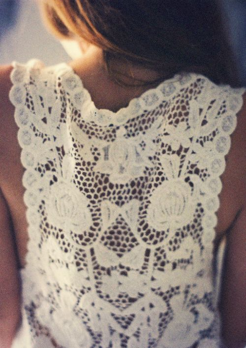 Back: Lace Tops, Laceback, Style, Clothing, Dresses, Wardrobes, White Lace, Lace Back, Wear