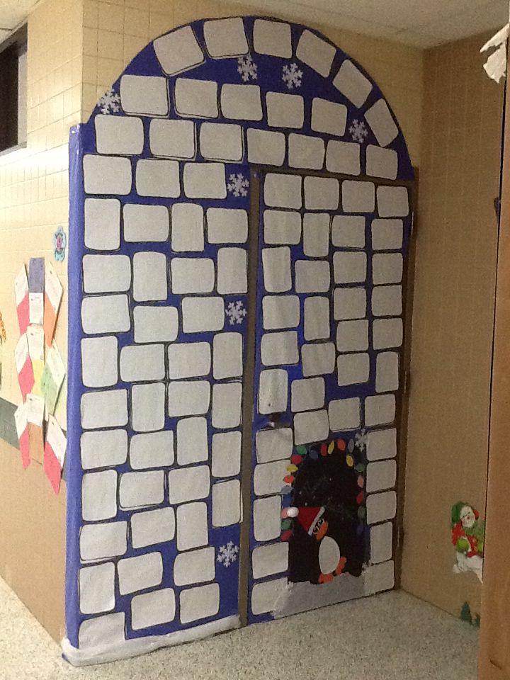 Igloo Classroom Door For Christmas School Classroom