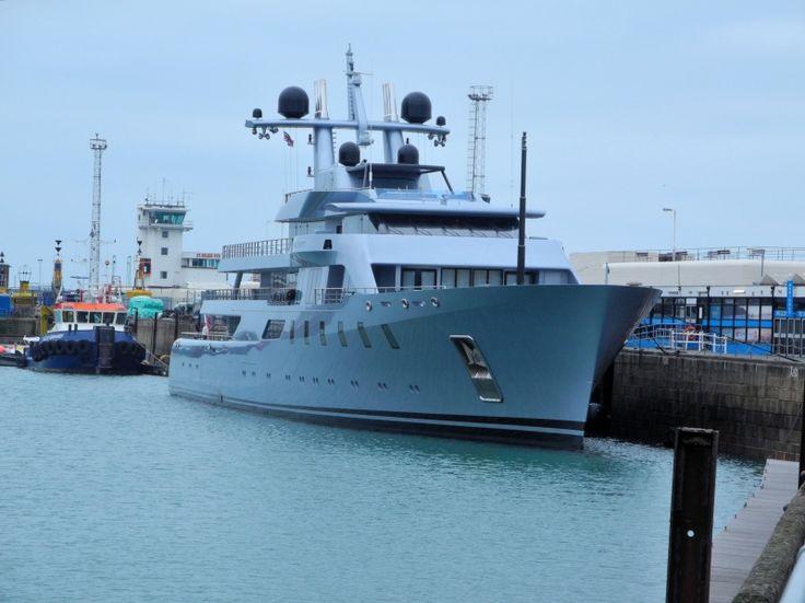 Yacht Pacific by Lurssen Yachts #yacht #ChannelIslands #EnglishChannel #JerseyIsland #StHelier #Marina