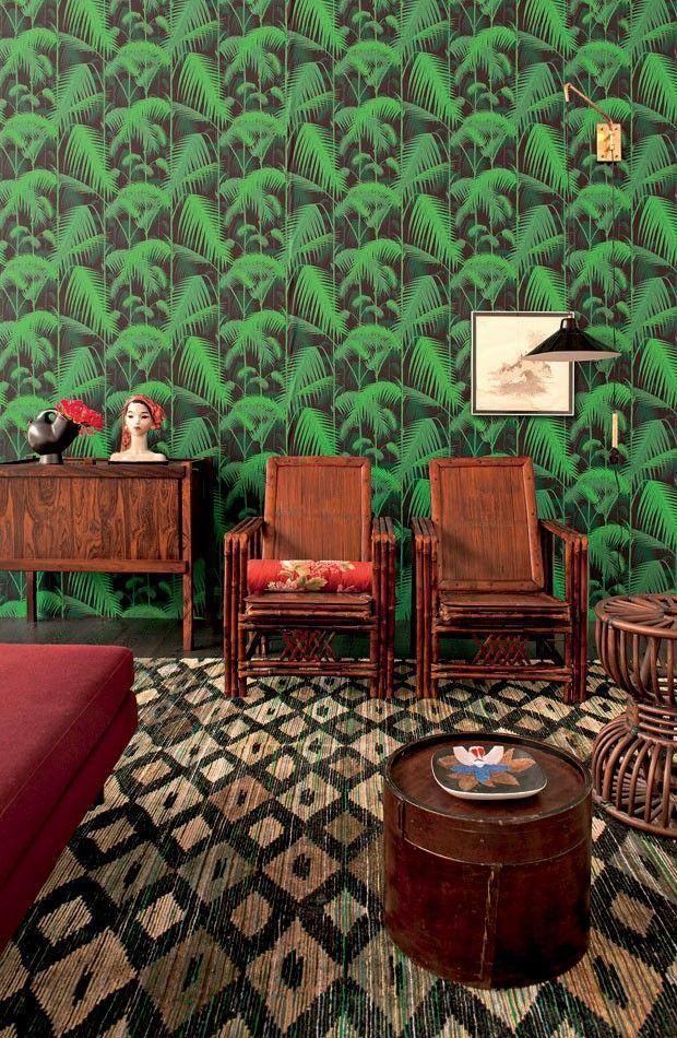 60 Fotos Von Dekoration Mit Kolonialstil Neu Dekoration Stile Ausgefallene Tapeten Tapeten Dekor