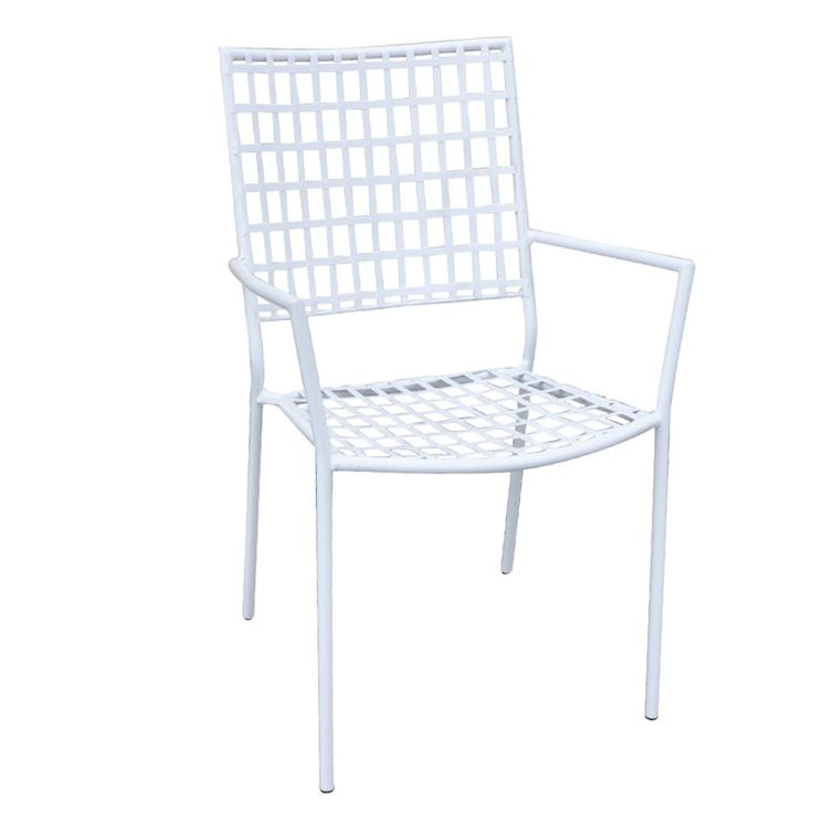 Castello garden armchair steel white