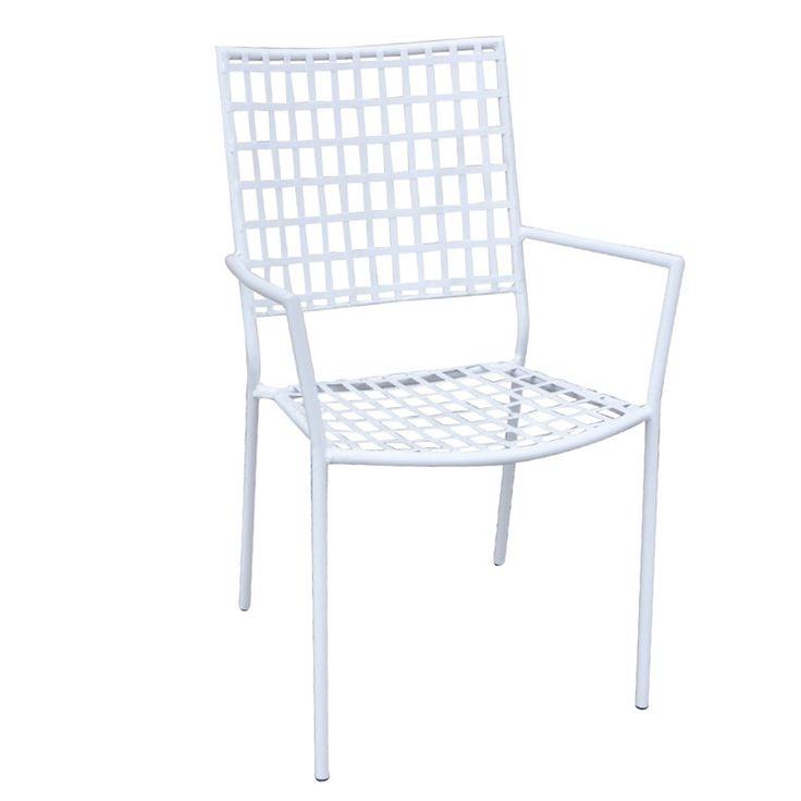 Castello garden armchair steel white