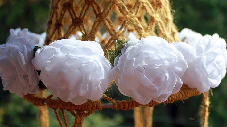 """""""Веночек для невесты"""" (цветы из шифона) / Video tutorial """"A headband for..."""