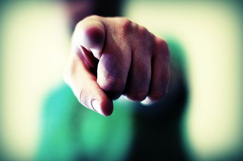 """""""When you point your finger at someone, three fingers are pointing back at you."""" #quote"""