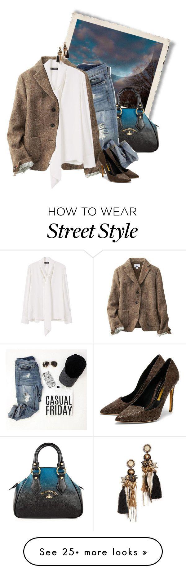 """street style"" by janemichaud-ipod on Polyvore featuring Vivienne Westwood, Uniqlo, MANGO, Rupert Sanderson and Deepa Gurnani"