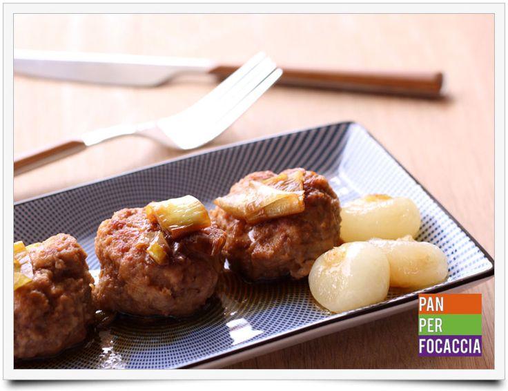Polpette allo zenzero e salsa di soia con cipolline glassate