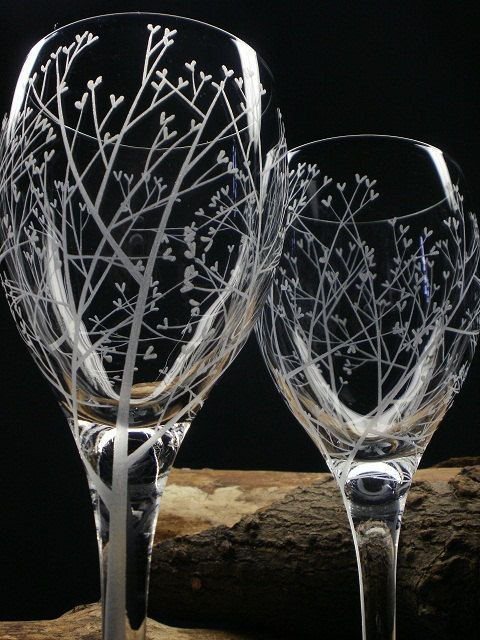 Tree of Love Wine Glasses
