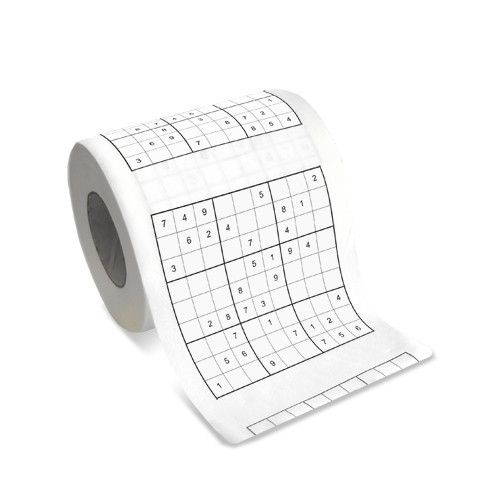 The world's first Sudoku Toilet Roll is now available! 9.95$CAD @ www.opuszone.com