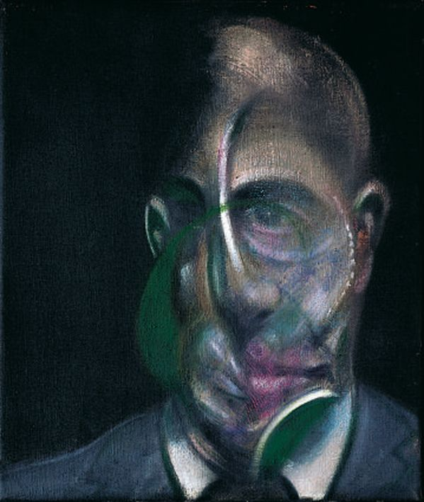 Francis Bacon, Ritratto di Michel Leiris(1976) olio su tela; 34 x 29 cm