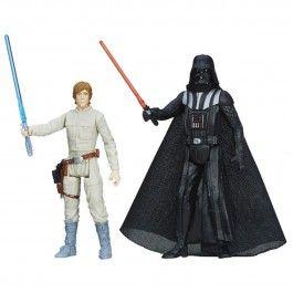 Figurines Star Wars Darth Vader et Luke Skywalker