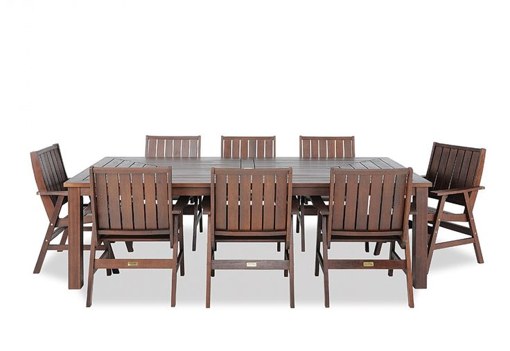 Nullarbor 9 Piece Outdoor Setting Super A Mart Timber