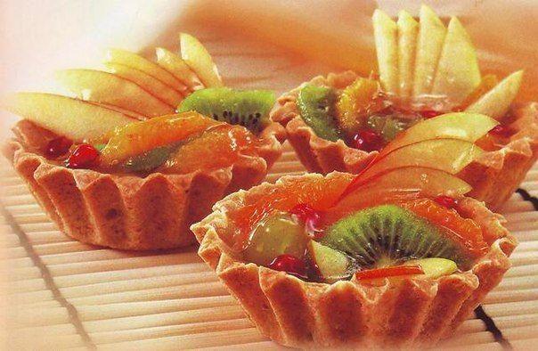 Фруктовые корзиночки | Кулинарные Рецепты