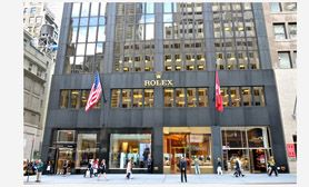 USA travel guide 5th avenue New York. This is Rolex Watch's official retailer – which has 680 of its timepieces available at this flagship location (within in the Rolex USA building).