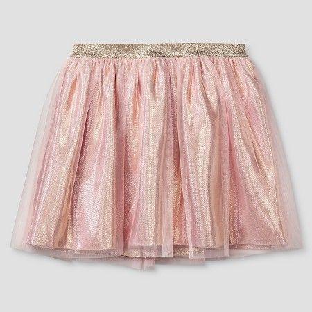 Girls' Tutu Skirt Pink and Gold Lame - Cat & Jack™ : Target $17.99