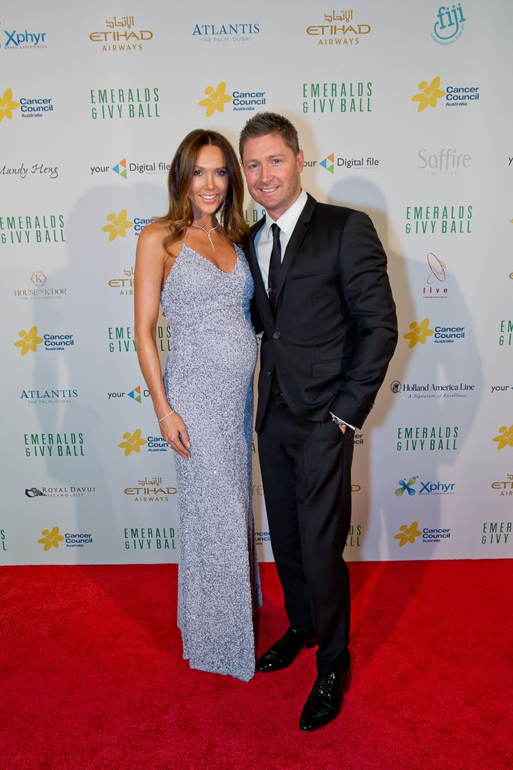 Michael Clarke with his beautiful wife Kyly on the Emeralds and Ivy Ball 2015 red carpet.