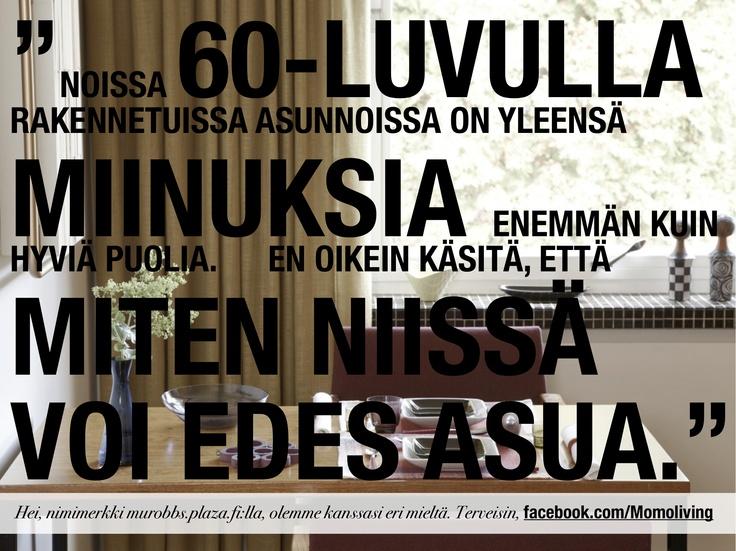 opinions about 60's houses (sorry, so far only in Finnish) – more on facebook.com/Momoliving