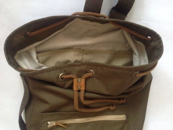 Waterproof Sailor bag / backpack. Drawnstring Sailor Bag/ Warm