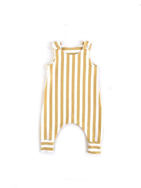 Baby Overall Playsuit Minimalist baby Organic Harem Romper in Pink Organic Kids Girls Boys Harem Romper Organic baby kids clothes