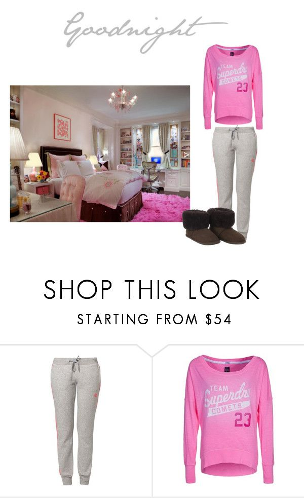 """""""Goodnight #4"""" by katielovesharrystyles ❤ liked on Polyvore featuring adidas Originals, Superdry and Just Sheepskin"""