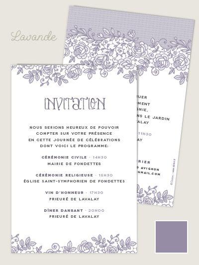 Invitation mariage religieux