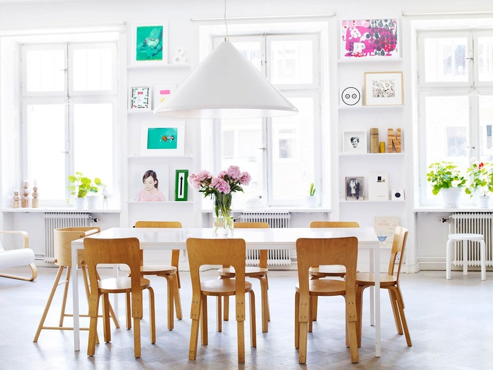 Freshest way to use Artek chairs I have seen so far :)