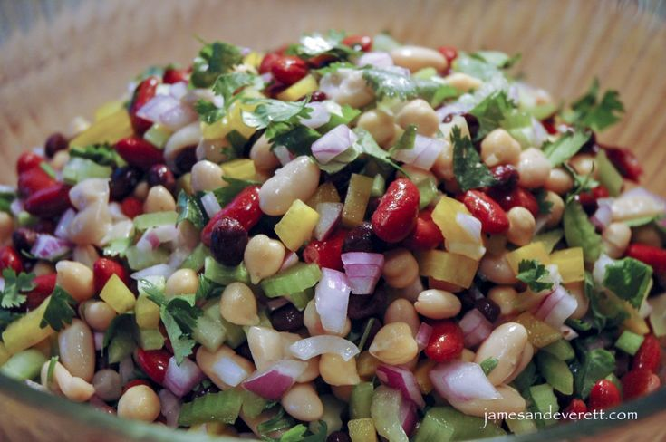 Healthy, light and delicious, this quick and easy four bean salad is a perfect side dish for a pot luck dinner or backyard BBQ. The combination of colors, textures and flavors are certain to make t…
